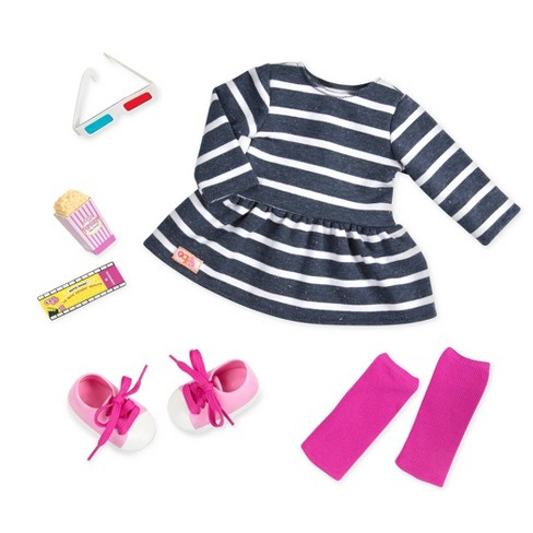 "Our Generation Regular Movie Night Outfit for 18"" Dolls - Theatre Threads - image 1 of 4"