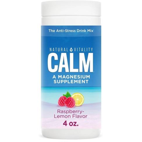 Natural Calm Mineral Supplement Powder - Raspberry Lemon - 4oz - image 1 of 4
