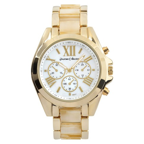 Women's Journee Collection Round Face Acrylic Link Watch - image 1 of 2