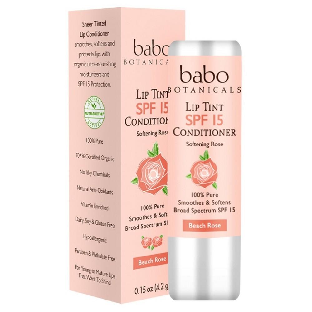 Image of Babo Bototanicals Lip Tint Conditioner - Beach Rose - SPF 15 - .15oz