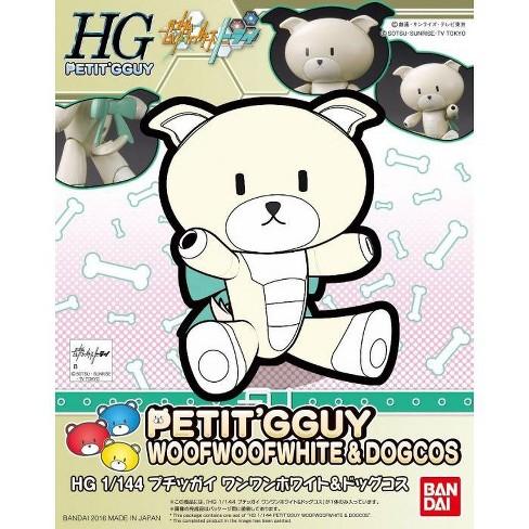 Bandai Gundam Build Divers Petit'Gguy Woof Woof White & Dog HG 1/144 Model Kit - image 1 of 3