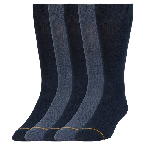 Auro® a GoldToe Brand Men's 5PK Socks - Navy 6-12 - image 1 of 2