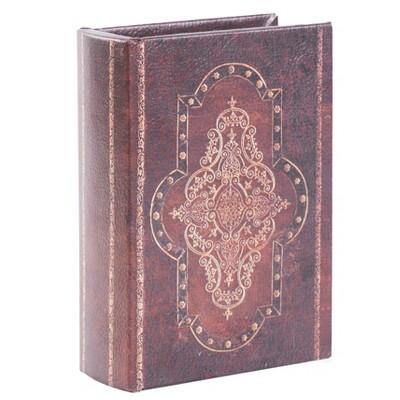 Vintiquewise Decorative Vintage Book Style Trinket Storage Box