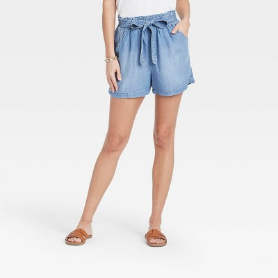 Women's Tie-Front Shorts - Knox Rose™ Blue