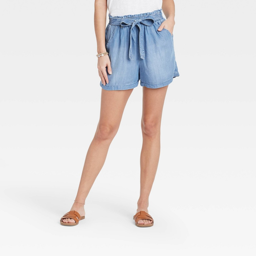 Women 39 S Tie Front Shorts Knox Rose 8482 Blue M