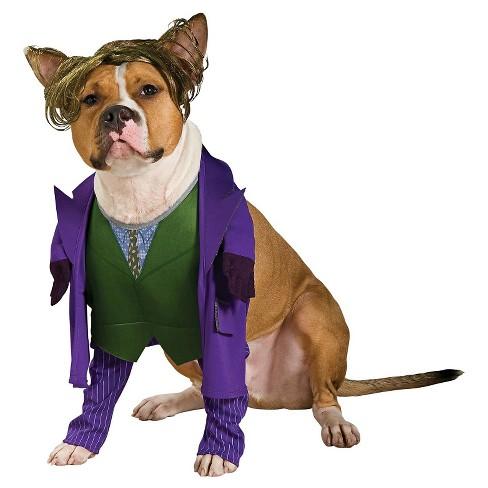 Joker Dog Costume - Purple/Green - image 1 of 1