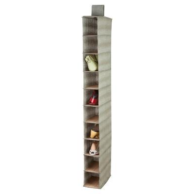 Honey-Can-Do Bamboo 10-Shelf Shoe Organizer - Gray