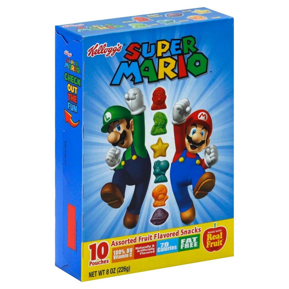 Kellogg's Super Mario Assorted Fruit Snacks - 8oz/10ct