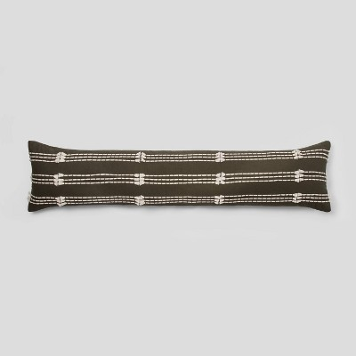 Bed Lumbar Clipped Decorative Pillow Olive - Project 62™
