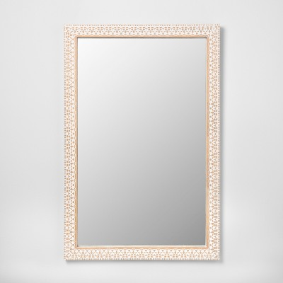 Carved Wood Decorative Wall Mirror Natural - Opalhouse™