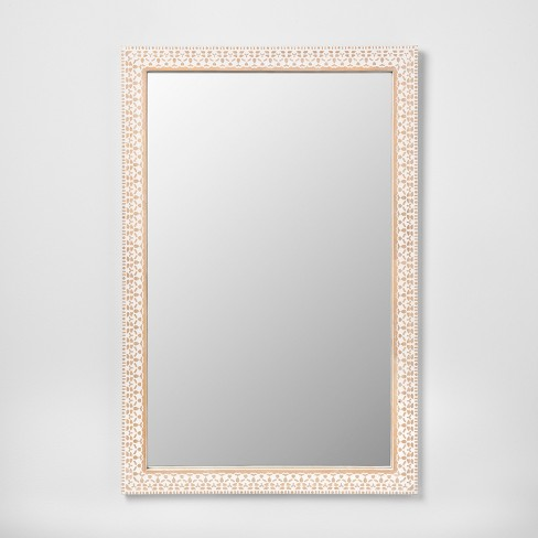 Carved Wood Decorative Wall Mirror Natural - Opalhouse™ - image 1 of 4