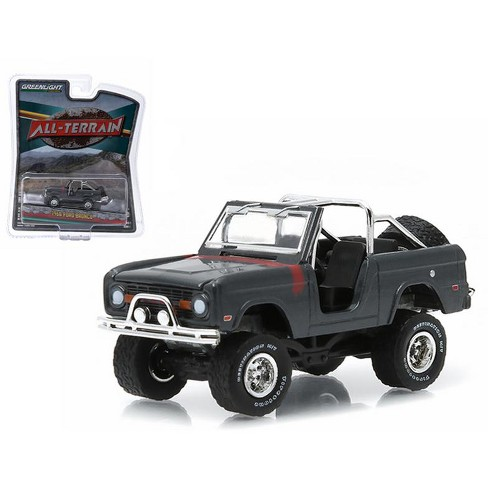 "1968 Ford Bronco Custom Steel Gray ""All Terrain"" Series 1 1/64 Diecast Model Car by Greenlight - image 1 of 1"