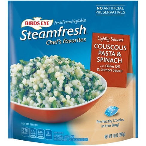 Birds Eye Steamfresh Frozen Chef's Favorites Lightly Sauced Couscous Pasta & Spinach - 10oz - image 1 of 1