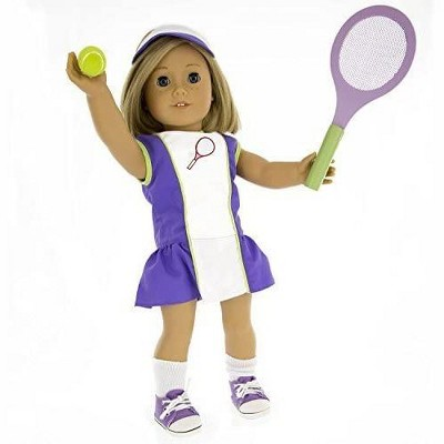Dress Along Dolly Tennis Sports Outfit for American Girl Doll