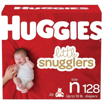 Huggies Little Snugglers Diapers Giant Pack - Size Newborn (128ct)