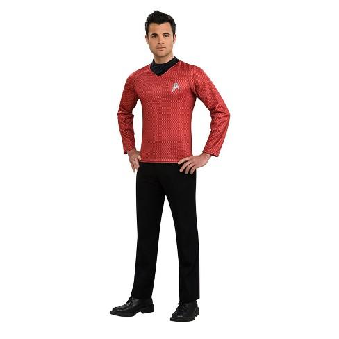 Men's Star Trek Shirt Halloween Costume - Red - image 1 of 1