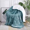"""50""""x60"""" 10lbs Teddy Sherpa to Sherpa Reversible Weighted Throw Blanket Green - Dreamothis - image 2 of 4"""