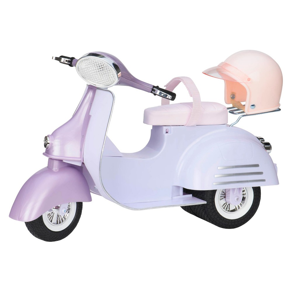 Our Generation Vehicle Accessory For 18 34 Dolls Ride In Style Scooter Purple 38 Blue