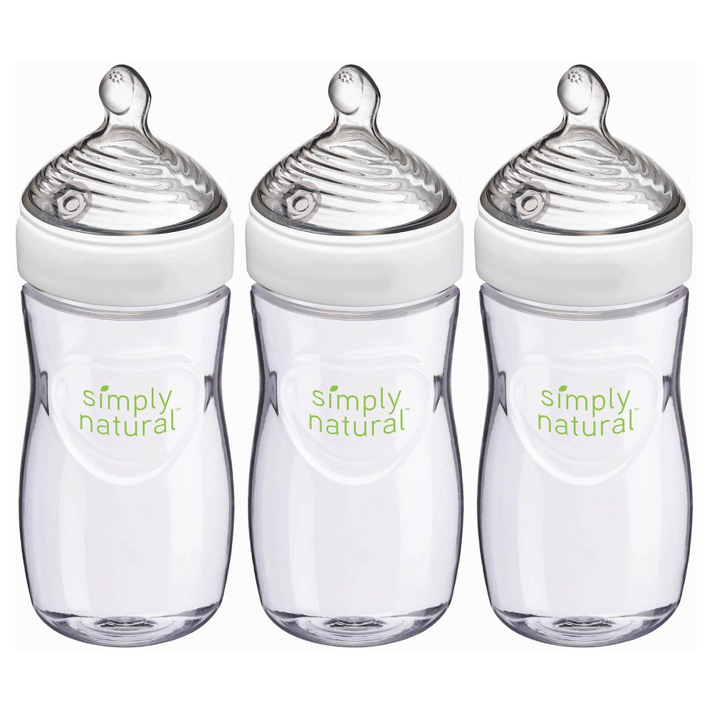 Image of Nuk Simply Natural Bottle - 9oz - 3pk, Clear