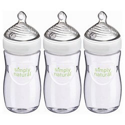 Nuk Simply Natural Bottle - 9oz - 3pk
