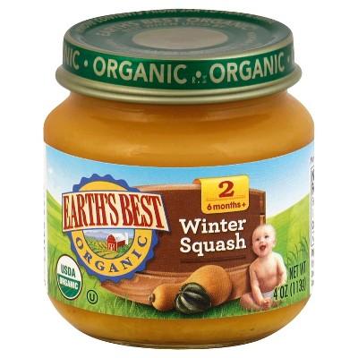 Earth's Best Organic Baby Food Winter Squash - 4oz
