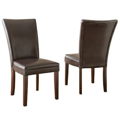 Set of 2 Talbot Parsons Chair Brown - Steve Silver