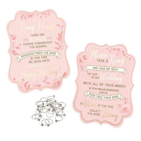 25ct Lillian Rose Bridal Shower Ring Game With Rings - image 1 of 3