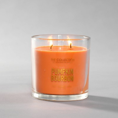 13oz Lidded Glass Jar 2-Wick Pumpkin Bourbon Candle - The Collection by Chesapeake Bay Candle