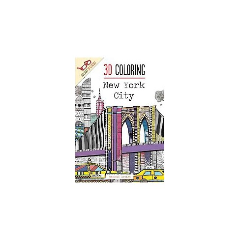 3D Coloring Adult Coloring Book: New York City. : Target