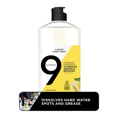 9 Elements Liquid Dish Soap - Lemon - 16 fl oz