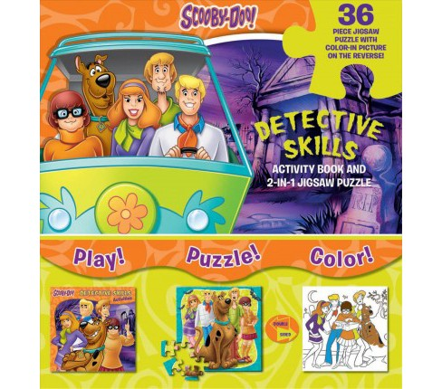 Scooby-Doo Detective Skills : Activity Book and 2-in-1 Jigsaw Puzzle (Paperback) - image 1 of 1
