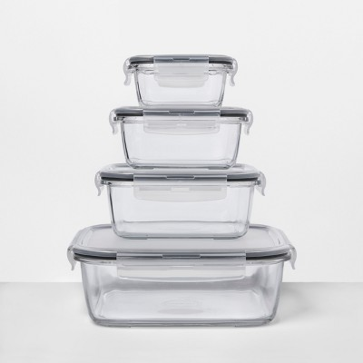 Genial 8pc Square Glass Food Storage Container Set   Made By Design™ : Target
