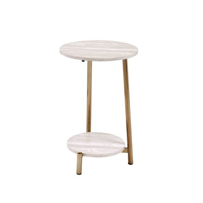Snare Side Table Natural/Champagne - Acme Furniture