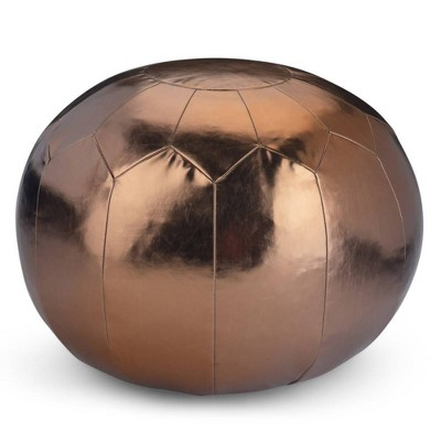 Charisse Round Moroccan Pouf Bronze - WyndenHall