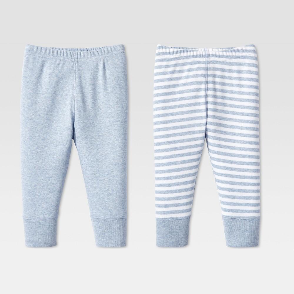 Image of Lamaze Baby Boys' Organic Cotton 2pk Pants - Blue 6M, Boy's
