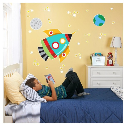Rocket Giant Wall Decal - image 1 of 1