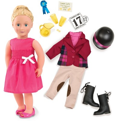 "Our Generation 18"" Posable Doll with Horseback Riding Outfit & Book - Lily Anna"