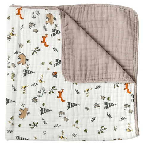 Little Unicorn 4-Layer Cotton Muslin Quilt - Forest Friends - image 1 of 4