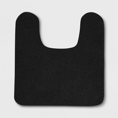 Perfectly Soft Nylon Solid Contour Bath Rug Black - Opalhouse™