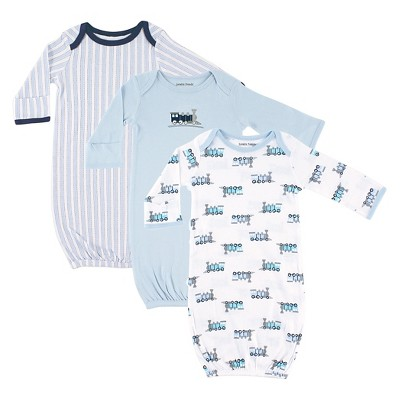 Luvable Friends Baby Boys' 3 Pack Sleeper Set - Train