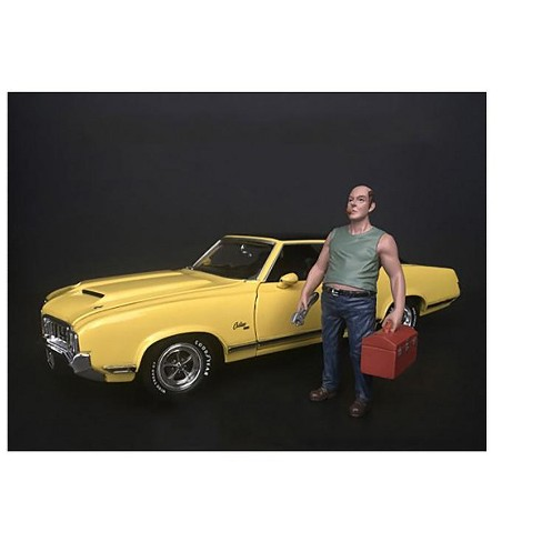 Mechanic Sam with Tool Box Figurine for 1/24 Scale Models by American Diorama - image 1 of 3