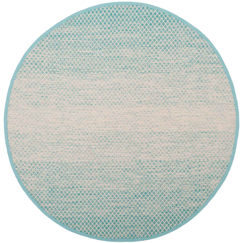 6 Ombre Design Woven Round Area Rug Turquoise/Ivory - Safavieh Compare