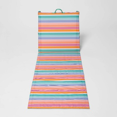 Folding Beach Portable Loungers - Horizontal Multi Stripe - Sun Squad™
