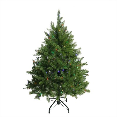 Northlight 4' Prelit Artificial Christmas Tree Northern Pine Full - Multicolor LED Lights