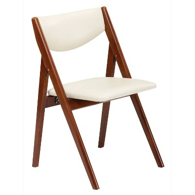 Set of 2 Comfort Folding Chair Cherry - Stakmore