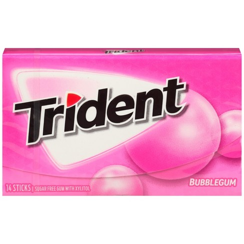 Trident Bubblegum Sugar Free Gum - 14ct - image 1 of 3