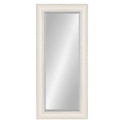 """16"""" x 36"""" Macon Framed Wall Panel Mirror White - Kate and Laurel"""