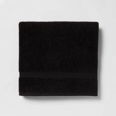 Perfectly Soft Solid Bath Towel Black - Opalhouse™