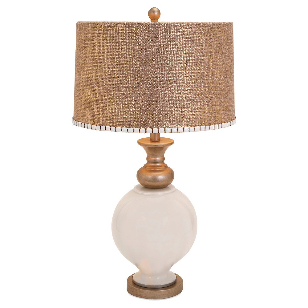 Image of Aurora Table Lamp - White/Burnished Gold (20), White/Gold
