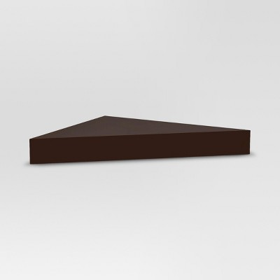 Modern Corner Shelf - Espresso - Threshold™